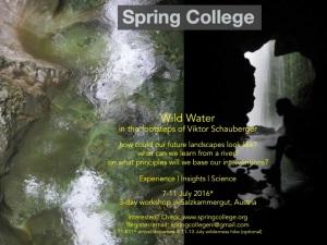 Flyer_WildWaterWorkshop_SpringCollege